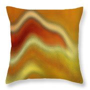 Red Orange And Yellow Glass Waves Throw Pillow