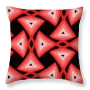 Red Ornament IIi Throw Pillow