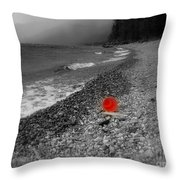 Red Pail Throw Pillow