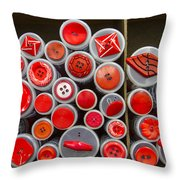 Red Palate Throw Pillow