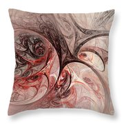 Red Passion - Abstract Art Throw Pillow