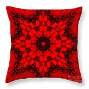Red Patchwork Art Throw Pillow