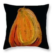 Red Pear - Delicious Modern Fruit Food Art Print Throw Pillow