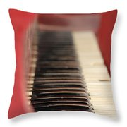 Red Piano Throw Pillow