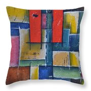 Red Pillars Throw Pillow