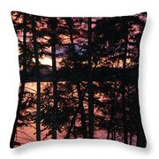 Red Pines Throw Pillow