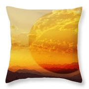 Red Planet Sunset Throw Pillow