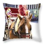 Red Plumes Throw Pillow