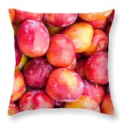 Red Plums Throw Pillow