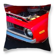 Red Plymouth Barracuda Throw Pillow