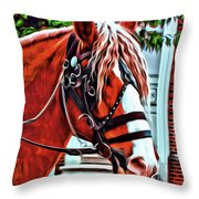 Red Pony Throw Pillow