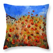 Red Poppies 562111 Throw Pillow