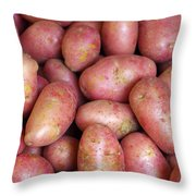 Red Potatoes Throw Pillow