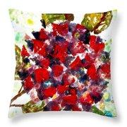 Red Purple Flower Throw Pillow