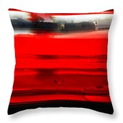 Red Rails Throw Pillow
