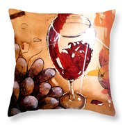 Red Red Wine Throw Pillow