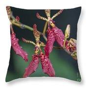 Red Renanthera John Losgar 2190 Throw Pillow