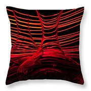 Red Rhythm Iv Throw Pillow by Davorin Mance