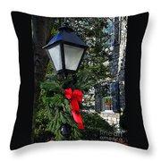 Red Ribbon Christmas Throw Pillow