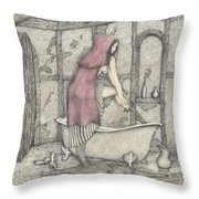 Red Riding Hood-one Month Later Throw Pillow