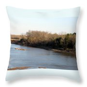 Red River Looking East Throw Pillow