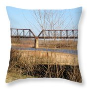 Red River Train Trussell Throw Pillow