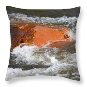 Red Rock And Water Splash Throw Pillow