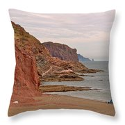 Red Rock By Sea Of Cortez From San Carlos-sonora Throw Pillow