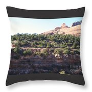 Red Rock Canyon In Arizona Throw Pillow
