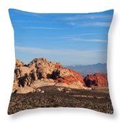 Red Rock Canyon Las Vegas Throw Pillow