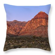 Red Rock Canyon Pano Throw Pillow by Jane Rix