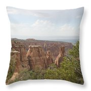 Red Rock Canyon Throw Pillow