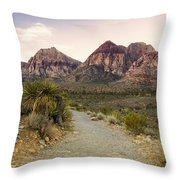 Red Rock Canyon Trailhead Throw Pillow
