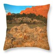Red Rock Caps Throw Pillow