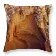 Red Rock Cave Throw Pillow