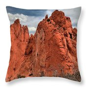 Red Rock Cluster Throw Pillow