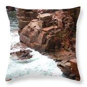 Red Rock Coast Maine Throw Pillow