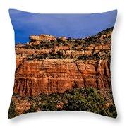 Red Rock Crag Throw Pillow