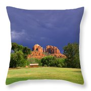 Red Rock Crossing Park Throw Pillow
