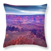 Red Rock Dusk Throw Pillow