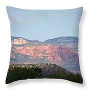 Red Rock Evening Throw Pillow