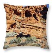 Red Rock Land Throw Pillow