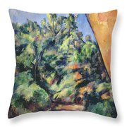 Red Rock Throw Pillow by Paul Cezanne