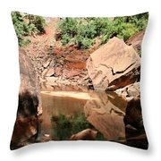Red Rock Reflection I Throw Pillow