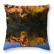 Red Rock Reflections Throw Pillow