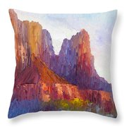 Red Rock Ridge Throw Pillow