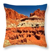 Red Rock Ridges Throw Pillow
