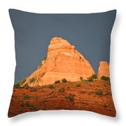 Red Rock Rising Throw Pillow
