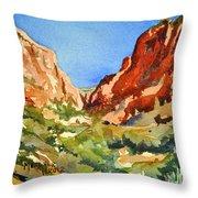 Red Rock Summer Throw Pillow
