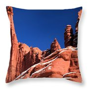 Red Rock Towers Throw Pillow
